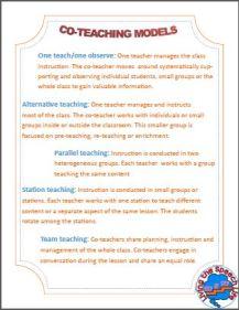 co-teach printable